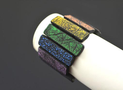 ročno izdelana unikatna pisana zapestnica - Unika Nakit