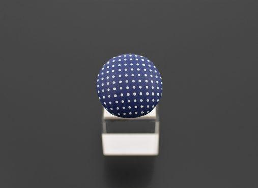 Navy blue modra mornar bele pike prstan - Unika Nakit