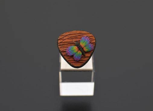 unikatni-prstan-leseni-videz-pisani-metulj - Unika Nakit