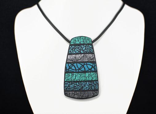 ročno izdelana unikatna verižica turkiz mora - unikanakit.si