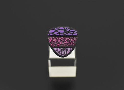 unikaten prstan pink viola - Unika Nakit