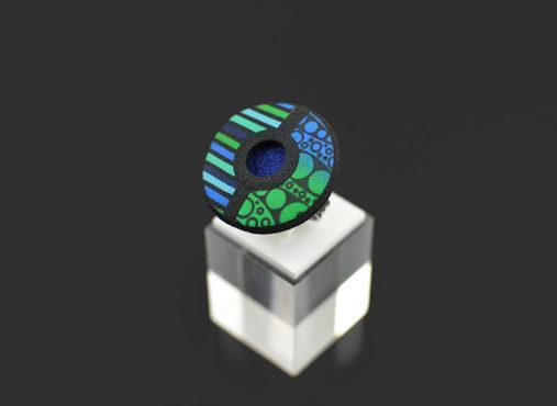 modni in unikatni prstan turkiz modro zeleni - Unika Nakit